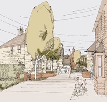 Illustration of Oakham North residential project