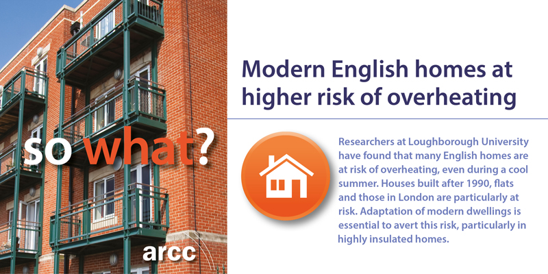 Modern English homes at higher risk of overheating
