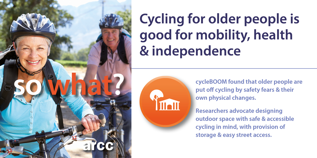 cycleBOOM – helping older people take up cycling