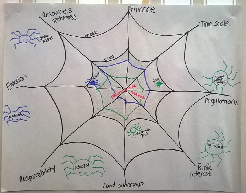 ECR drawing of a spider's web